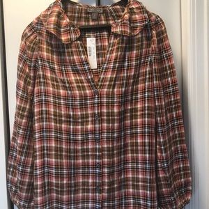 Womens j crew blouse